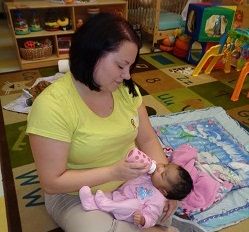teacher with baby